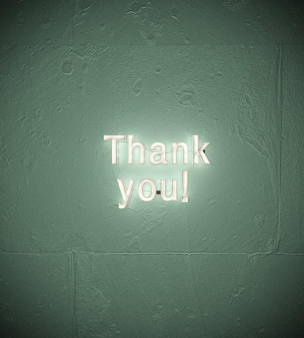 Надпись Thank You