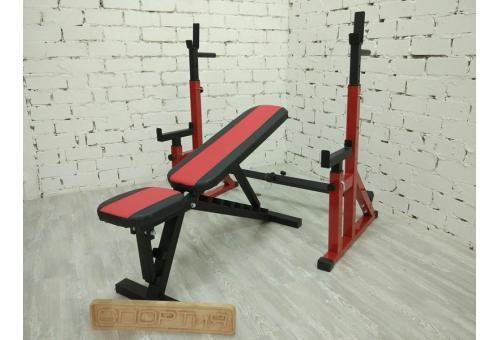 лучшее оборудование для домашнего спортзала - Стойки для штанги и скамья для жима