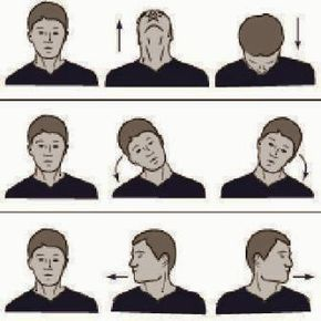 как делать разминку для шеи